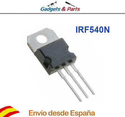 2pcs IRF540 MOSFET TO-220 100V 33A 130W transistor - Nuevo !!!