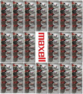 100 Maxell CR2032 3V Lithium Coin Battery US Seller fast shipping