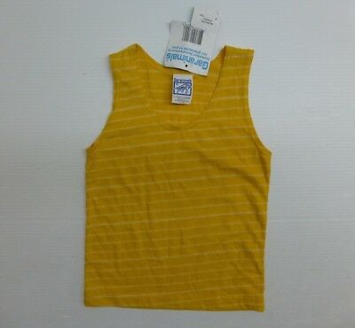 Garanimals Boys Size 5 Yellow White Striped Tank Top Shirt New With Tags