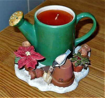 Marjolein Bastin Natures Sketchbook Watering Can Hallmark Christmas Candle