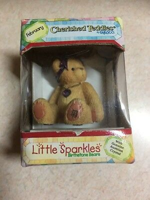 Enesco Cherished Teddies Little Sparkles Birthstone Bears - February 239747