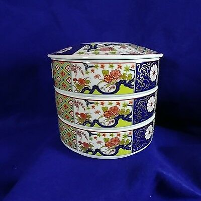 Imari Empress Japanese Stacked Bowls with Lid