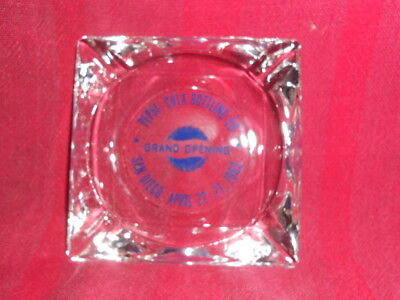 San Diego HISTORY ASHTRAY PEPSI COLA BOTTLING CO.1963 April 22-27 GRAND OPENING