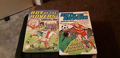 ROY OF THE ROVERS ANNUAL 1981 and 1985