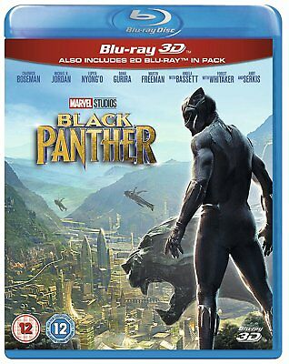 BLACK PANTHER [Blu-ray 3D + 2D] UK Exclusive 3D Release Marvel Studios Avengers