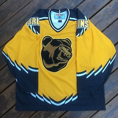 Vintage Boston Bruins Pooh Bear Jersey Mens XL Sewn CCM NHL Hockey Rare 90s bf2ef67c2