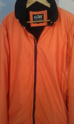 SAILING JACKET DOUGLAS GILL Marine Size L orange outer with blue polartec inner