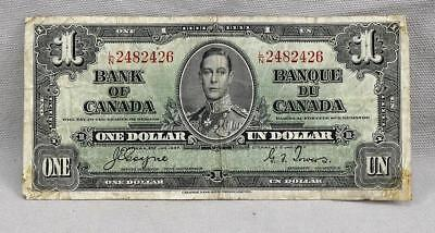 1937 $1 Bank Of Canada $1 Note / Bill! No Reserve!