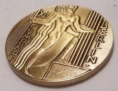 WW2 WWII German Berlin Olympics Olympia 1936 coin medal medallion BRONZE