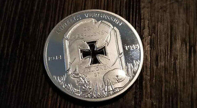 WW2 WWII German Fallen soldiers commemorative military coin medallion silver pla