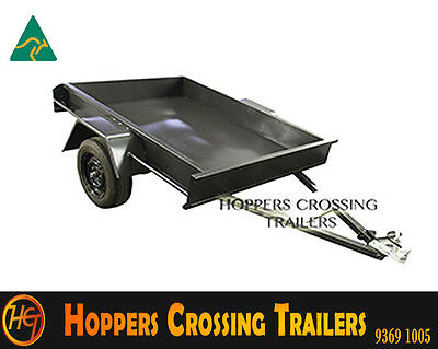 Australian Made 6x4 Box Trailer Smooth Floor