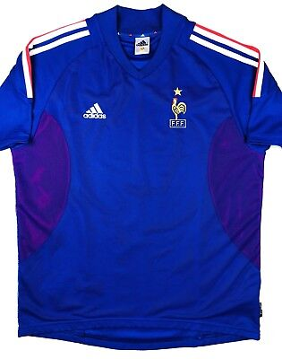 74c2bc09c Adidas FRANCE 2002 World Cup L Home Soccer Jersey Football Shirt FFF Maillot