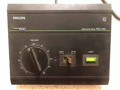 PHILIPS PDC 1010 Electronic Darkroom Enlarger Timer Photography Rare Vintage