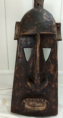 ANTIQUE DOGON African Art Hand Carved Authentic From MALI Helmet Mask