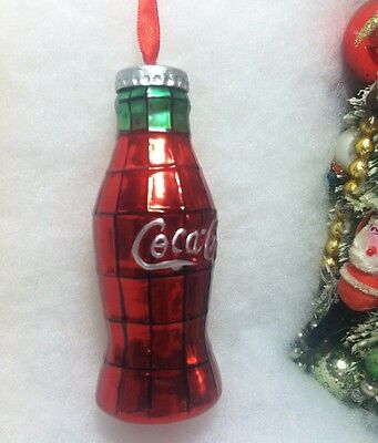 Coke, Coca Cola Bottle Christmas Tree Ornament