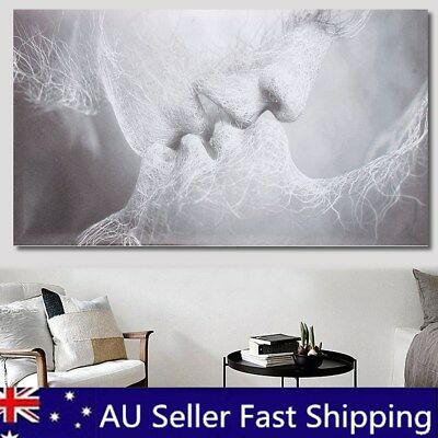 40x24'' Large Framed Love Kiss Abstract Oil Canvas Wall Art Print Painting Decor