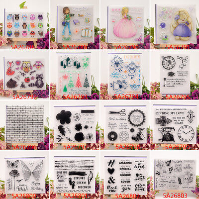 Clear Silicone Rubber Stamp For DIY Album Scrapbooking Card Embossing Decor