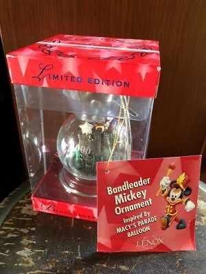 LENOX Limited Edition 2000 Parade Commemorative Bandleader Mickey Mouse Ornament