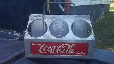 "COCA COLA 6 PACK CARRIER CASE ""Delious Coca Cola Refreshing"""