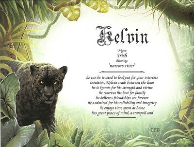 """""""Black Panther"""" Personalized Name Meaning Gift Print"""