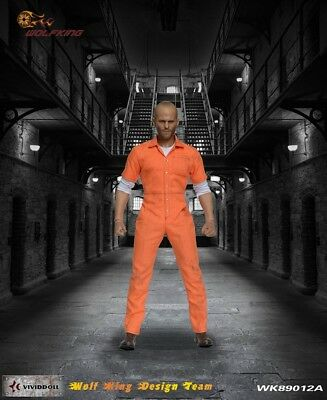 Wolf King 1:6 Inmate Jump Suit & Head Action Figure Accessory Jack 89012A