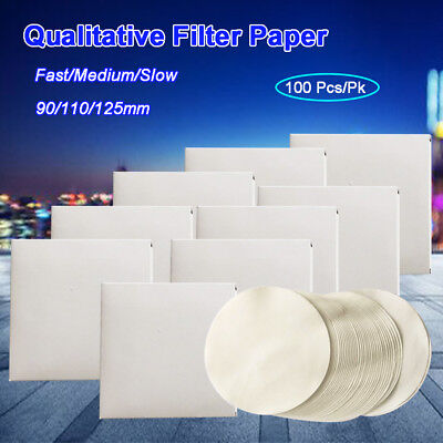 Qualitative Analysis Filting Filter Paper, 2-25μm, Fast/Medium/Slow,100pcs/lot