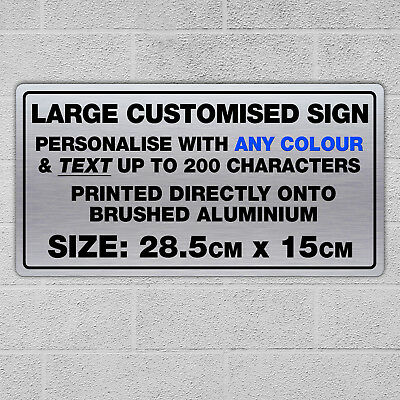 Custom Sign Metal Plaque Any Text, Quote or Logo Safety Parking Sign Office Gift