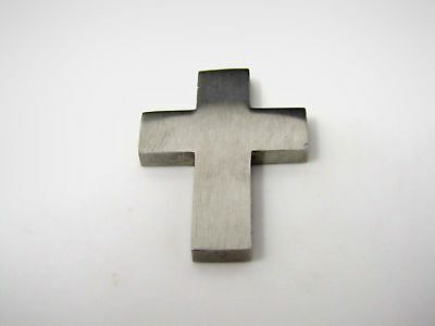 36 SILVER BRUSHED Metal Cross Baptism Christening Wedding