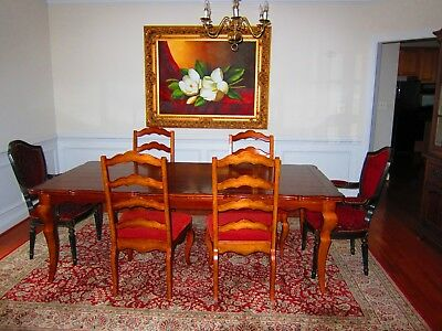 Traditional 10 Piece Formal Dining Room Set Table, Chairs & China Cabinet