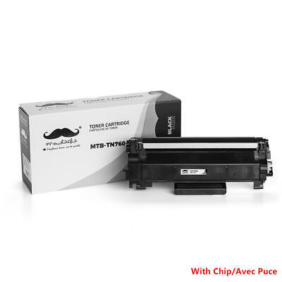 Moustache® TN760 Black Toner Cartridge High Yield - With Chip For Brother