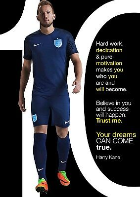Harry Kane poster # 27 - top motivational & inspirational quotes - A4 poster