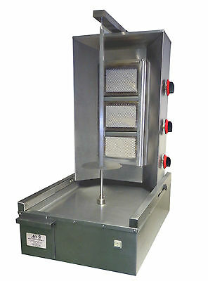 New Commercial 3 Burners TRADE PRICE GAS Doner KEBAB MACHINE.