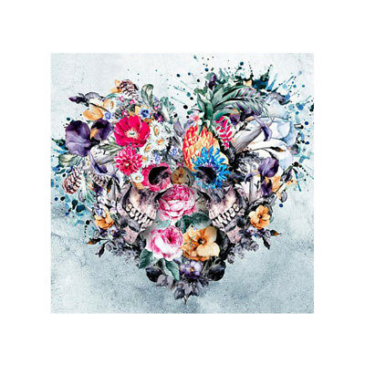 Punk Skull Flower Heart Full Drill 5D Diamond DIY Painting Craft Home Decor Lat