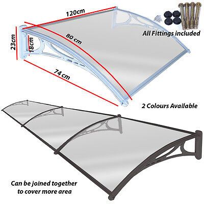 Door Canopy Awning Shelter Porch Shade Roof Cover Outdoor Front Back Canopies