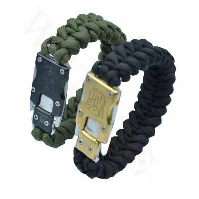 Paracord Survival Bracelet Outdoor Sports Packet Knife Rope Camping Hiking NF
