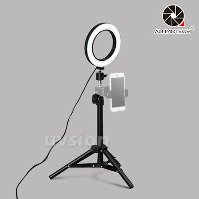Dimming 64 LEDs Ring Light+Ball Head+60CM Tripod Stand Kit For Live Show Video