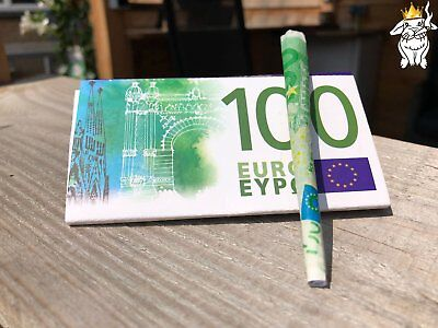 Euro Papers 2 wallets of 10 €100 Bill Rolling Papers