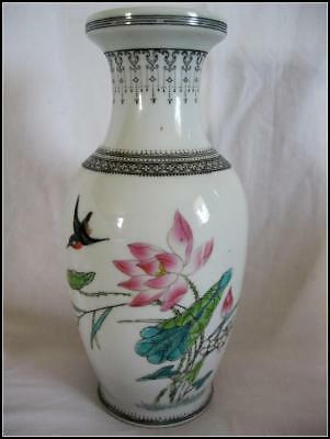 Fine Antique Chinese Vase  Hand Painted Signed Marked