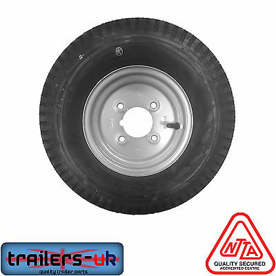 "400 X 8"" Complete Trailer Wheel with High Speed Tyre - FREE NEXT DAY DEL"