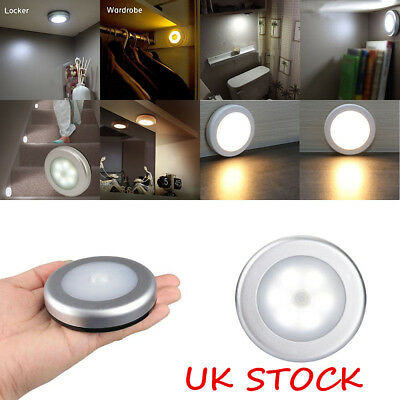 3X 6LED Wireless PIR Auto Motion Sensor Infrared Night Light Cabinet Stair Lamp