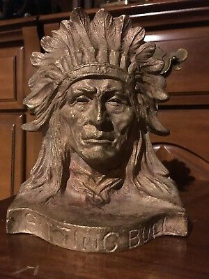 """Sitting Bull"" Solid Bronze Bookend"
