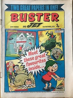 Buster And Jet Comic, 2Nd October 1971, First Combined Issue