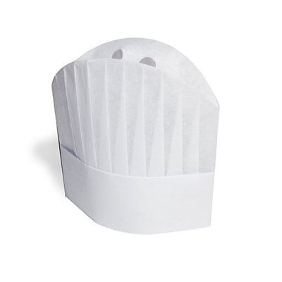 """Royal 9"""" Viscose Pleated """"Le Toque"""" Chef Hats, Pack of 50, VCH9"""