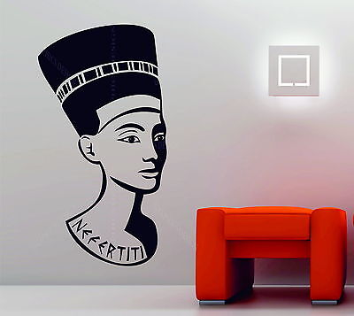 Nefertiti Queen Of Egypt Decorative Vinyl Wall Sticker Decal Egyptian Pharaoh