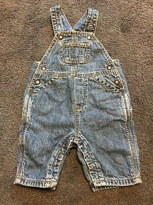 Boys Girls Baby Gap Denim Carpenter Jeans Overalls Pants Newborn 0-3 Months