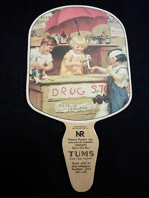 Tums Advertising Drug Store Fan Kezar Falls, Maine