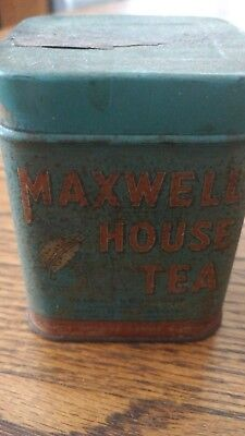 Vintage Maxwell  House Tea Blue Tin