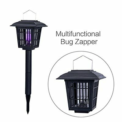 YIER Solar Powered Outdoor Insect Killer/Bug Zapper/Mosquito Hang or Stick