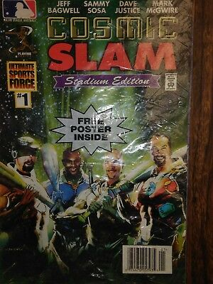 Baseball Cosmic Slam Comic book #1 sealed