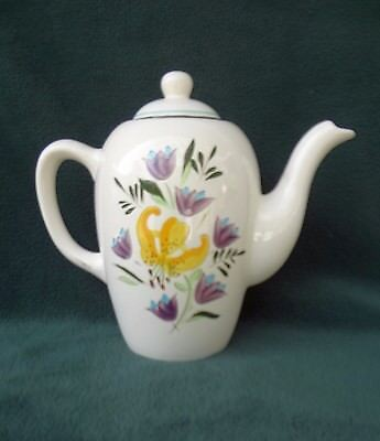 STANGL POTTERY COFFEE POT Country Garden Pattern Made In Trenton NJ Hard To Find